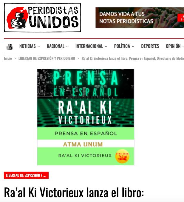 Periodistas Unidos. Libro Prensa.